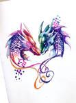 Two Dragons Pen Design