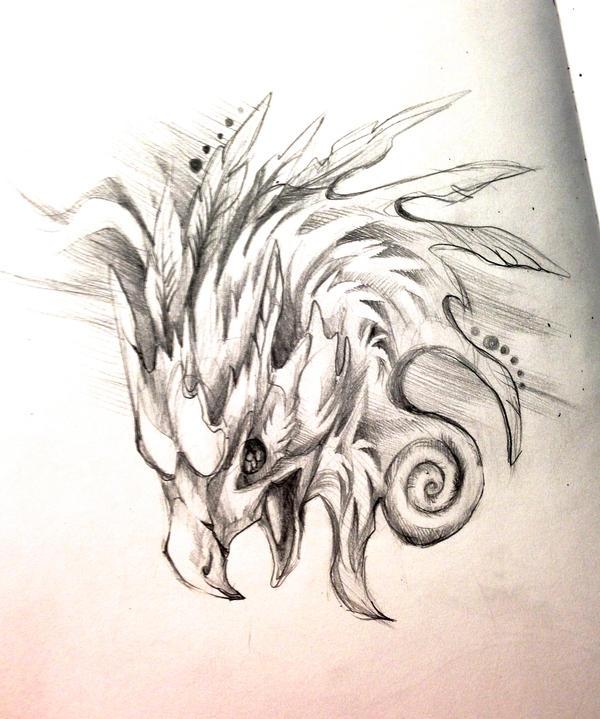Phoenix head design by Lucky978