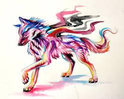 Phantom Wolf-Adoptable- Win original by Lucky978