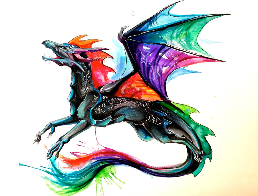 Tie Dye Dragon Revamp by Lucky978