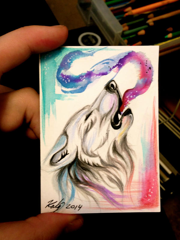 Howling Wolf ACEO -On Ebay- by Lucky978