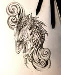 Dragon with Swirls