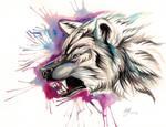 Snarling Wolf Design