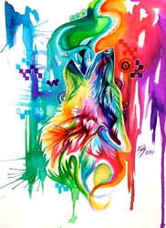Rainbow Wolf Revamp -on Ebay- by Lucky978