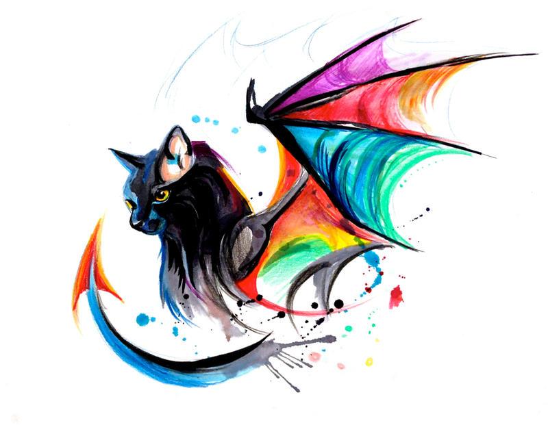 Rainbow Kitty Dragon