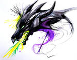 Throwback Dragons: Maleficent