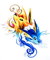 Jolteon and Vaporeon Design
