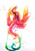 Phoenix Watercolor Design by Lucky978