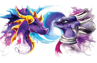 Cynder and Spyro by Lucky978