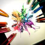 Rainbow Snowflake Commission