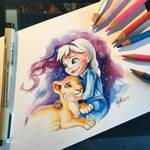 Little Elsa and Kiara