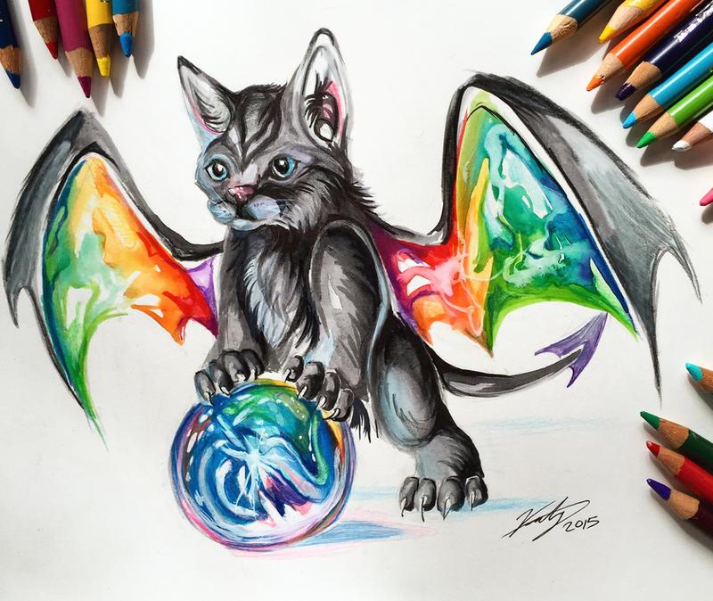 Day 4- Rainbow Kitty Dragon