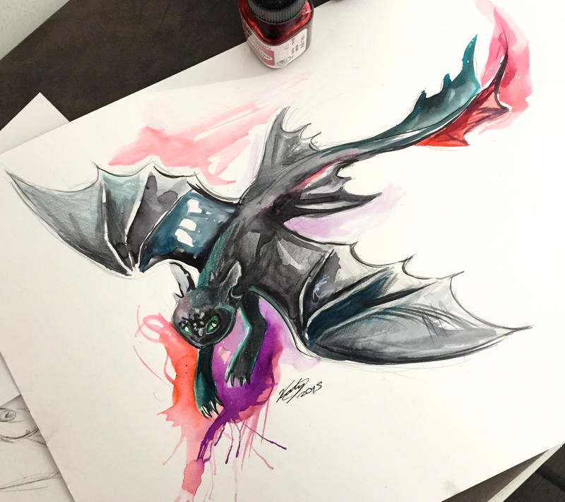 5 flying toothless by lucky978 on deviantart for Tattoo shops in katy