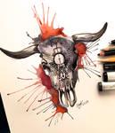 Day 6- Cow Skull Design