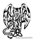 12- Tribal Leopard w Wings Commission