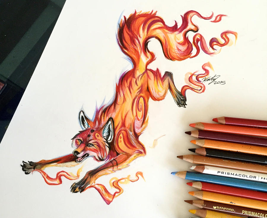 16 fire fox by lucky978 on deviantart for Tattoo shops in katy