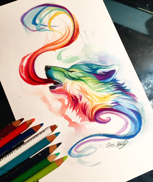 22- Small Rainbow Wolf By Lucky978 On DeviantArt