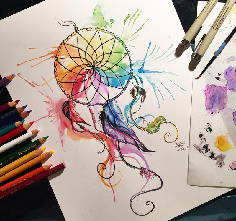31 Color Wheel Dreamcatcher By Lucky978 On DeviantArt