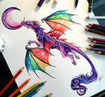 39- Rainbow Dragon Tatoo Commission
