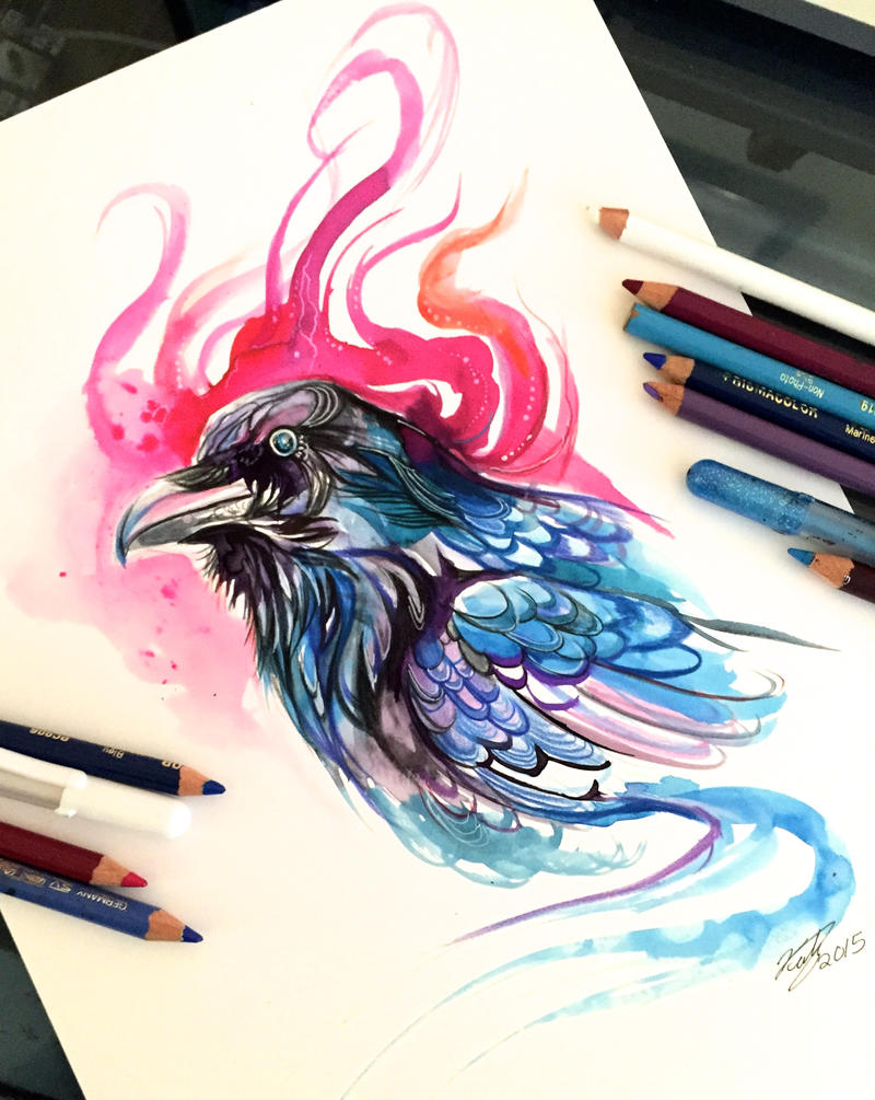 53 raven by lucky978 on deviantart for Tattoo shops in katy