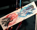 74- Dueling Dragons Bookmark