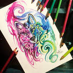 84- Decorative Wolf