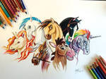 126- My Favorite Equines (colored)