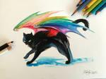 183- Black Rainbow Kitty