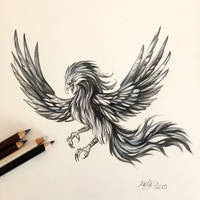 182- Black and Grey Phoenix by Lucky978