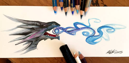 86- Black Dragon Bookmark by Lucky978