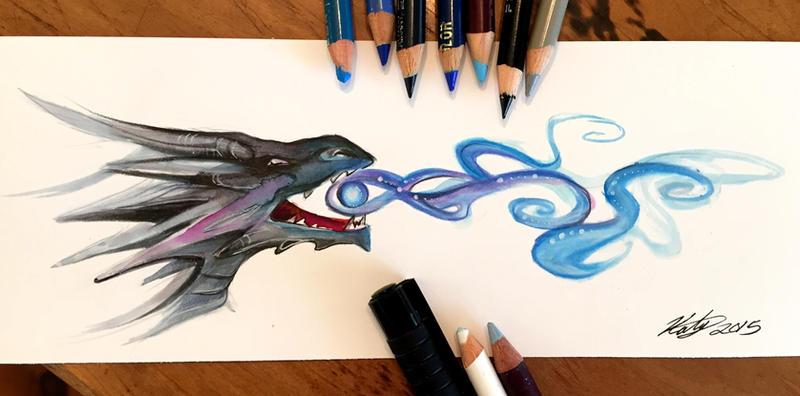 86- Black Dragon Bookmark by Lucky978 on DeviantArt