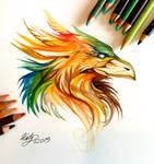 189- Phoenix Head Design