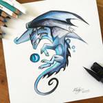 190- Blue Mystic Dragon