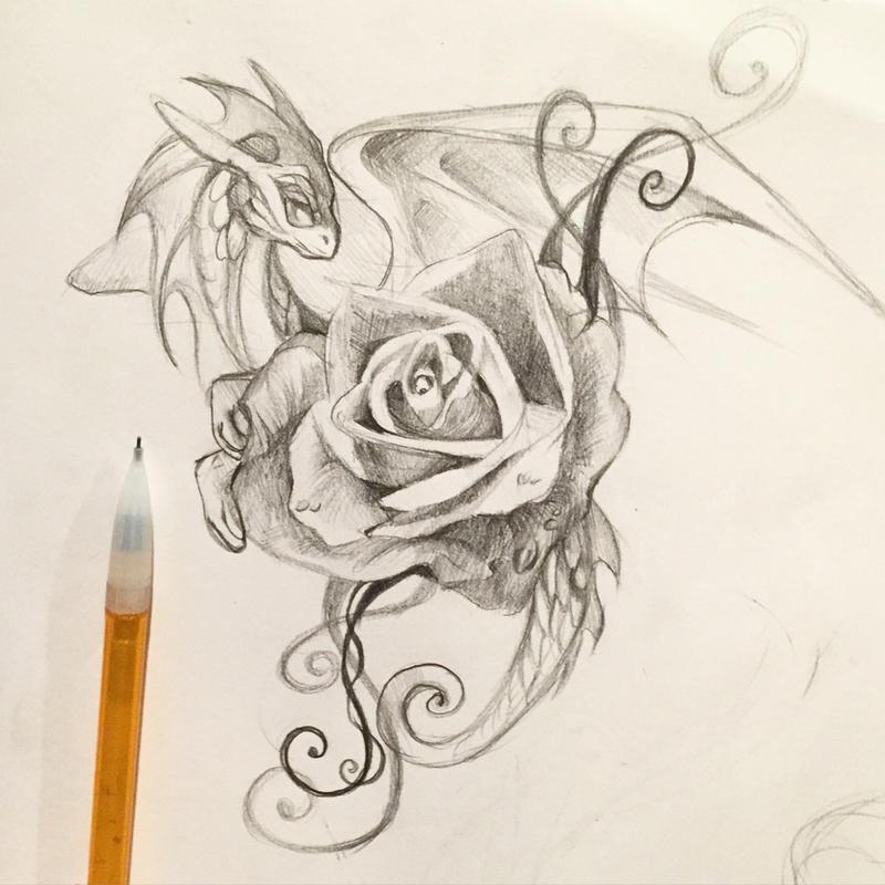 Purple Dragon Tattoo Designs