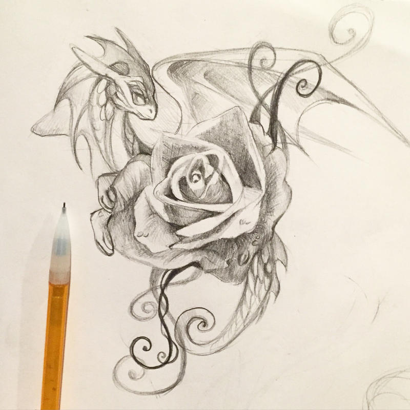 197 rose dragon by lucky978 on deviantart. Black Bedroom Furniture Sets. Home Design Ideas