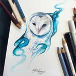226- Galaxy Owl