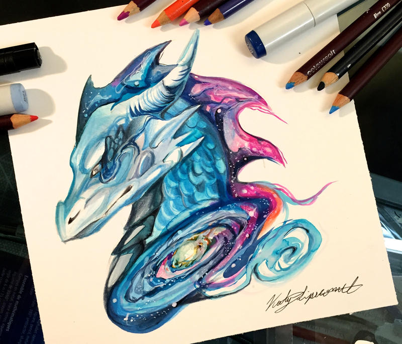 238 galaxy dragon by lucky978 on deviantart for Tattoo shops katy texas