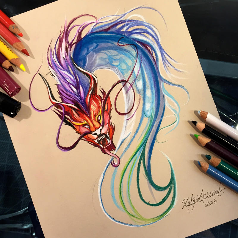 246 colorful chinese dragon design by lucky978 on deviantart for Tattoo shops in katy