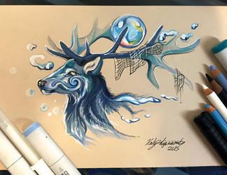 262- Stag Water Spirit