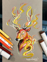 268- Stag Fire Spirit by Lucky978