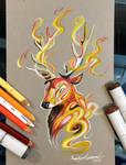 268- Stag Fire Spirit