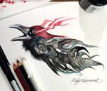 283- Ink Raven