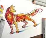 305- Fire Wolf