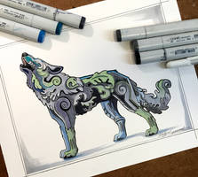 322- Decorative Howling Wolf by Lucky978