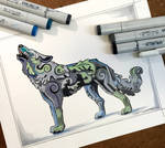 322- Decorative Howling Wolf