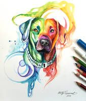 351- Rainbow Dog by Lucky978