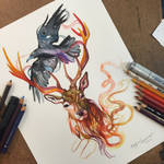 361- Stag and Raven Commission