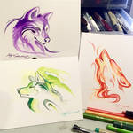 Patreon Monochromatic Wolf Sketches