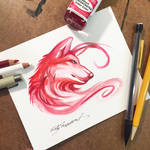 Red Wolf Sketch