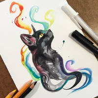 Black Rainbow Kitty by Lucky978
